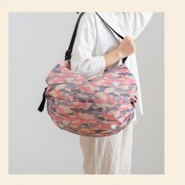 """數到5收納好""""可折疊購物袋/旅行包~防撕裂加厚尼龍布 手提買菜包/超市環保購物袋/單肩便攜"""