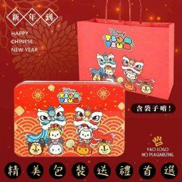 2021迪士尼最新聯名TSUN YSUN舞龍舞獅鐵盒餅乾