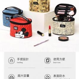 """香港正品代購""""迪士尼正版授權 圓桶手提化妝收納包~大容量 防潮防塵"""