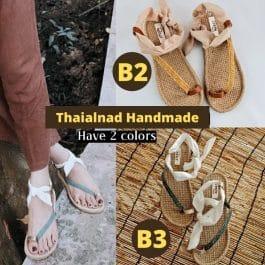 """B系列】""""陽光沙灘編織鞋""""泰國編織涼拖鞋~手工編織 柔軟好走"""