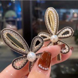 輕奢氣質款 少女感韓版珍珠水鑽髮夾~優雅時尚 女神必備