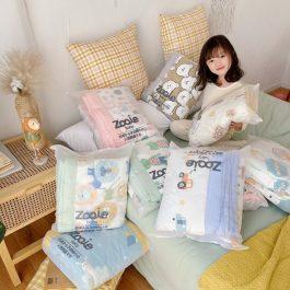 微商日本品牌 zooie 兒童牛奶棉空調被/小被子~幼兒園寶寶午睡被 寬邊耐蓋