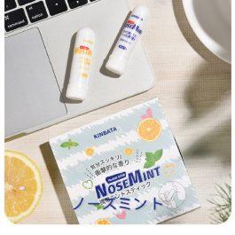 """清新醒腦一下""""日本KINBATA 提神醒腦棒 2支入~薄荷×1 檸檬×1"""