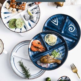 """211健康餐盤""""日式和風 青瑤系列分格餐盤~定量分格 輕鬆減脂"""