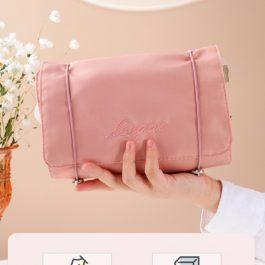 """你的行動梳妝台""""韓系時尚 四合一盥洗梳化包~超大容量 隨身折疊便攜可拆"""